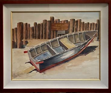 """John Genis """"Dory"""" Signed Original Watercolor"""