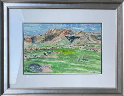 """Kimm Byers """"18th Hole"""" Original Watercolor"""