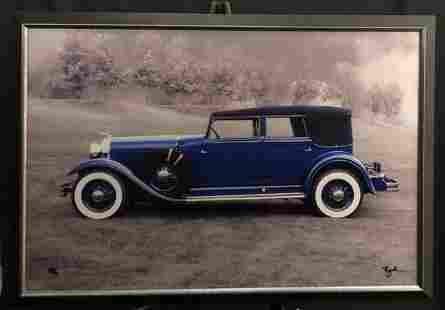 Breck Rothage 1939 Lincoln Framed Metallic Signed