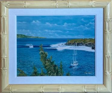 "Glenn B. Martin ""Honolua Bay"" Signed Photoreproduction"