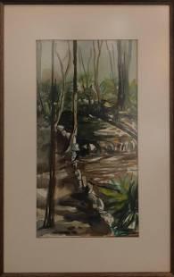 John Lance Original Watercolor Signed
