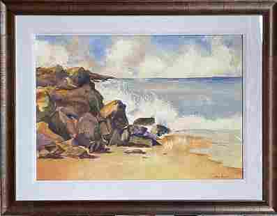 John Genis Signed Original Watercolor