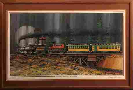 """Fred Bonn """"Steaming South to Carson City†Signed"""