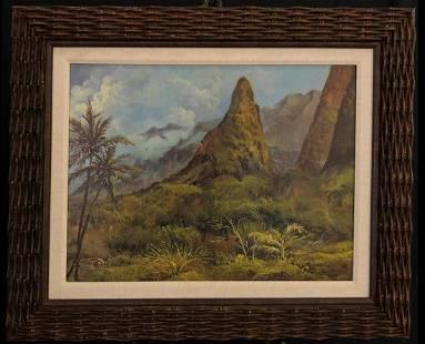 E.H. Walker IAO Valley Maui Original Oil on Canvas