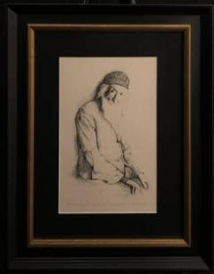 """M. Stark """"Patience, With Time"""" Signed Lithograph"""