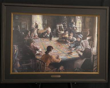"""Morgan Weistling """"The Quilting Bee"""" Giclee"""