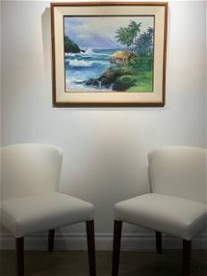 "Stephen Sands ""Island Retreat"" Signed 1987 Original Oil"
