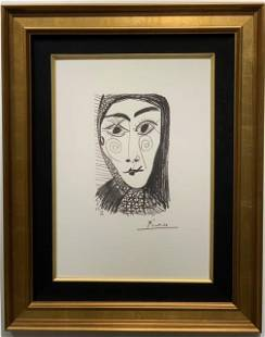 Pablo Picasso Plate Signed Lithograph on Arches