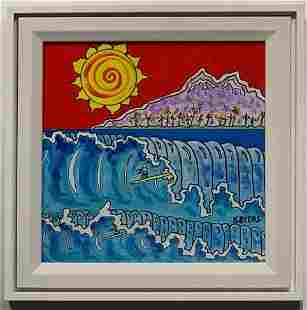 """Kimm Byers """"Perfect Wave"""" Abstract Signed Acrylic"""