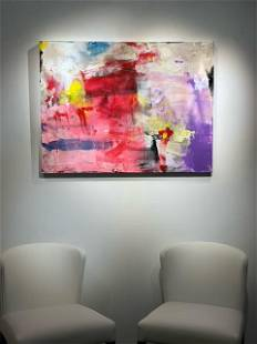 Jorn Fox Abstract Signed Original Oil and Acrylic