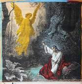 Jesus with angel by Steve Kaufman