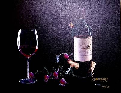 Butterfly Wine by Michael Godard