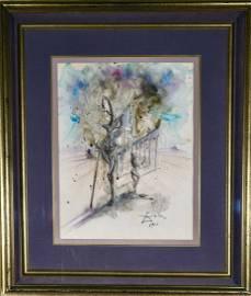 Salvador Dali, Original Painting Authenticated