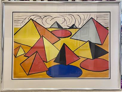 Calder, Composition with Circles Pyramids and Clouds