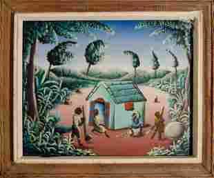 Cutting Cane by Haitian Artist Bourmond Byron