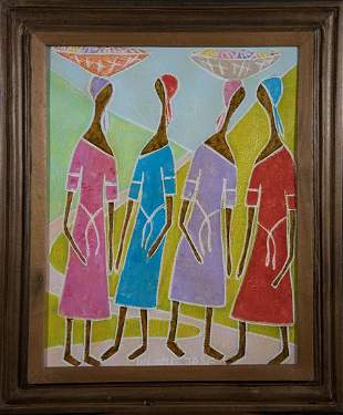 Untitled Haitian Painting by Haitian Artist Hilome