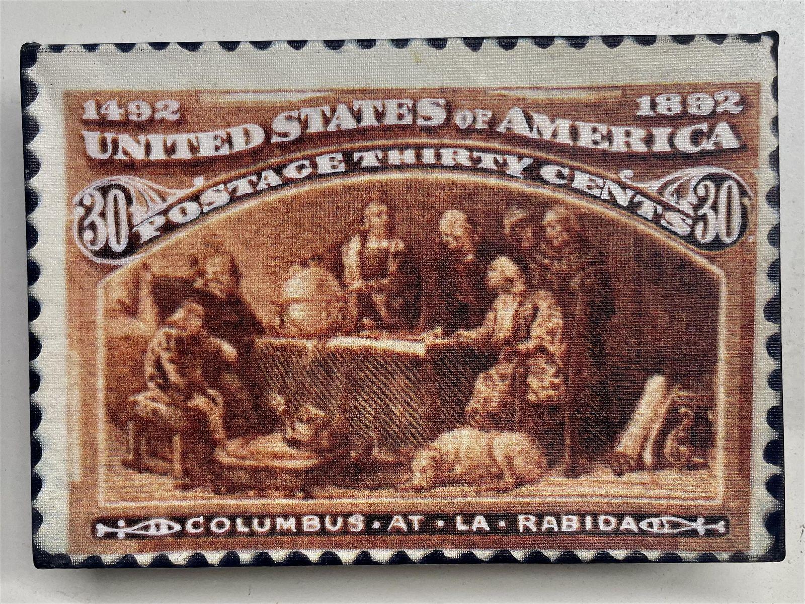 Columbus at La Rabida 30 Cents by Steve Kaufman KAW