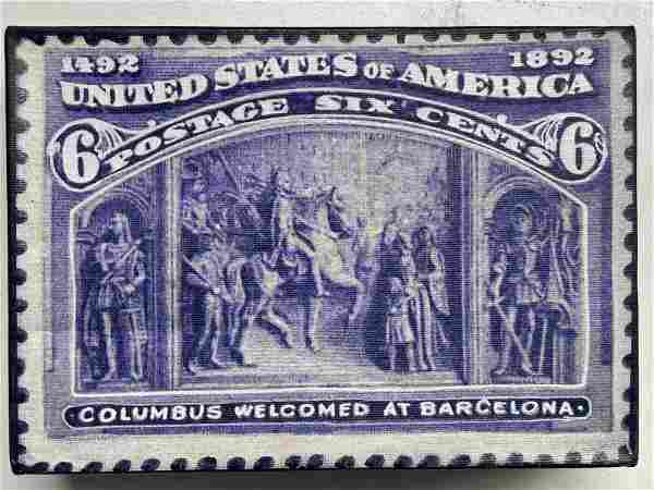 Columbus Welcomed at Barcelona 6 Cents by Steve