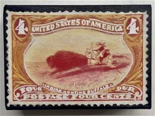 Indian Hunting Buffalo 4 Cents by Steve Kaufman KAW
