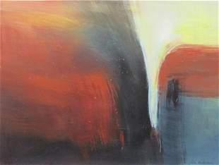 Untitled ID 12076, Acrylic and Oil by Eva Kolacs