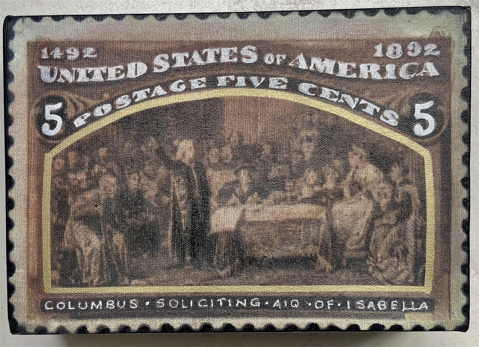 Columbus Soliciting 5 Cents by Steve Kaufman KAW