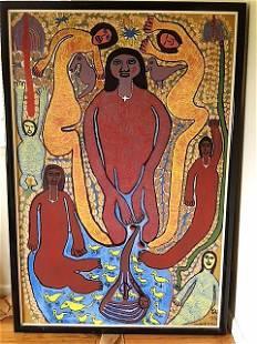 Haitian Master Prospere Pierre Louis LARGE original