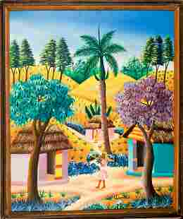 Haitian Painting by L Dumond
