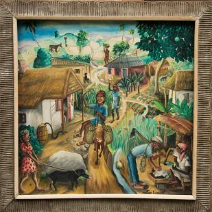 In the Village by Wilson Bigaud