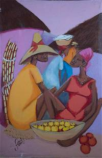 Haitian Painting by Petion Savain