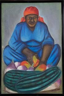 Fruit Seller by Gerard Valcin