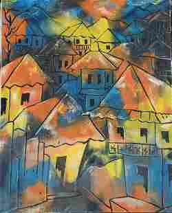 Haitian Painting by Paul Beauvoir