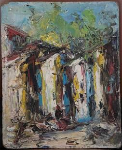 Haitian Painting by R. Viard