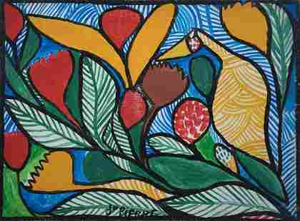 Haitian Painting by St. Pierre Toussaint