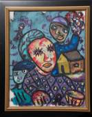 Untitled Haitian Painting by Merisier