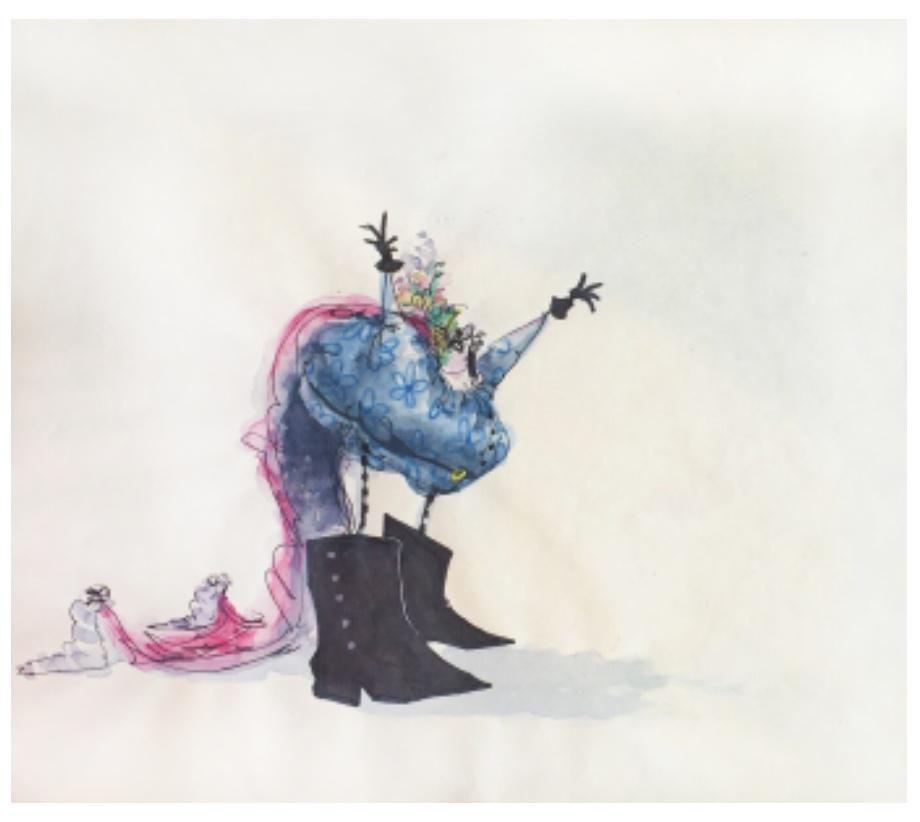 Tim Burton Black Cauldron Conceptual