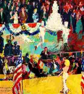 Presidents Birthday Party by Leroy Neiman