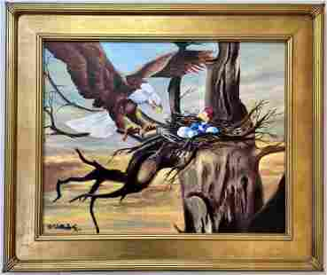 Walter Lantz oilgraph Woody Warms the Nest/h2>