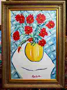 Red Bouquet for Jamie by Tony Curtis