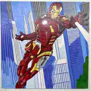 Iron Man by Steve Kaufman Signed by Stan Lee