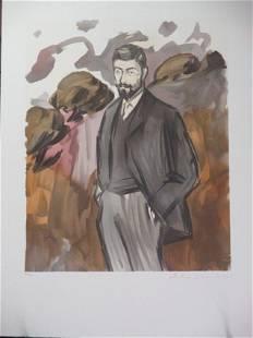 Portrait dun Homme Debout avec Barbiche