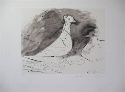 Pigeons de Face by Picasso