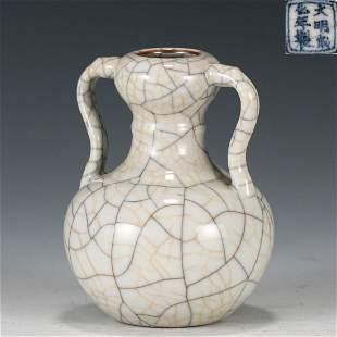 Ge Glazed Garlic Head Vase
