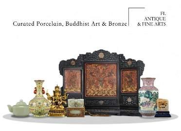 Curated Porcelain, Buddhist Art & Bronze