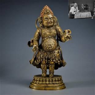 A Tibetan Bronze Standing Deity