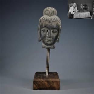 A Carved Gandhara Buddha Head Head