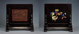 A Carved Cinnabar Lacquer Qing Dynasty