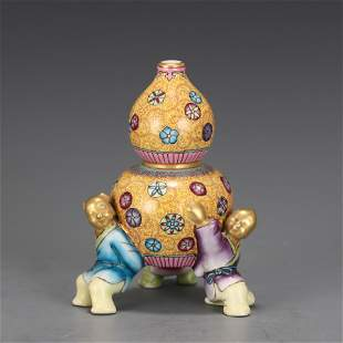 A Famille Rose Porcelain Decoration Qing Dynasty