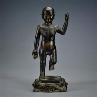 A Bronze Standing Shakyamuni Qing Dynasty