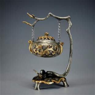 A Bronze Dragon Teapot Meiji Period