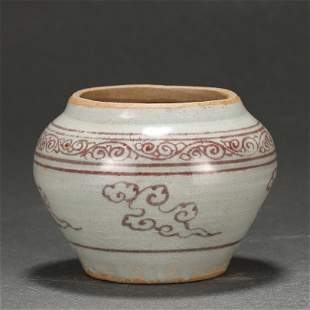 A Copper Red Jar Ming Dynasty